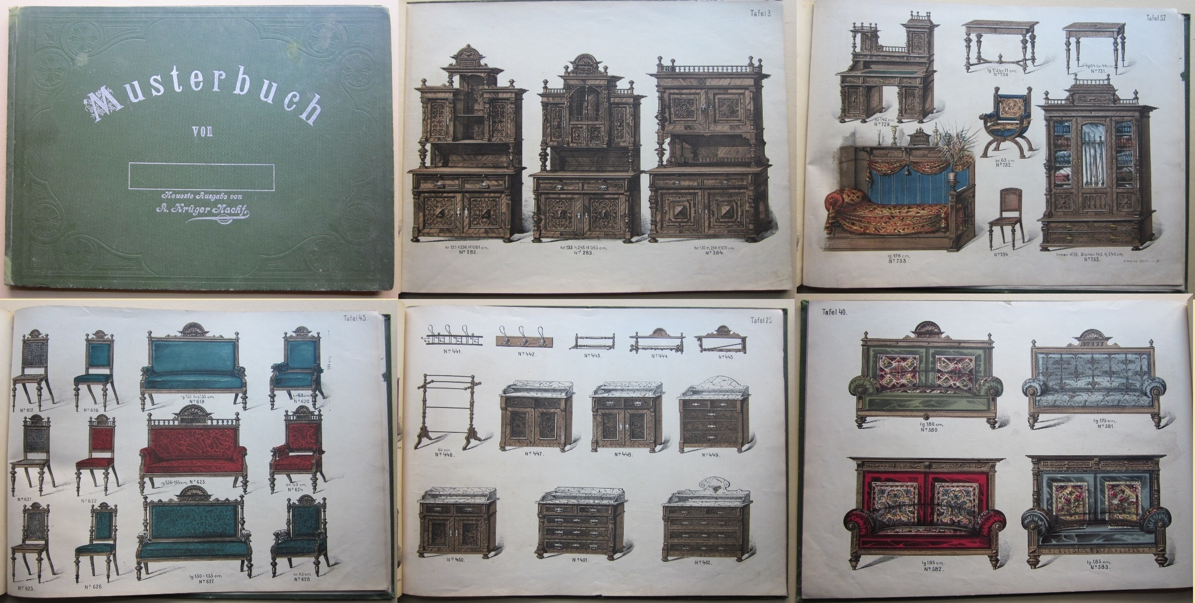 antiquariat g gler kr ger m bel musterbuch. Black Bedroom Furniture Sets. Home Design Ideas